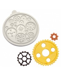 Cogs and Wheels Silicone Mould by Katy Sue