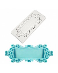 Rectangle Hearts Decorative Plaque Silicone Mould