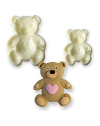 Teddy Bear POP it Cutter Mould set