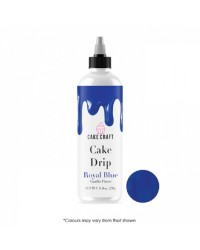 Cake Craft coloured chocolate Cake drip 250g  Royal Blue