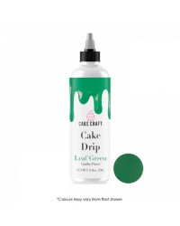 Cake Craft coloured chocolate Cake drip 250g  Leaf Green