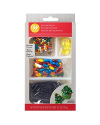 Christmas tree or gingerbread house decorating kit candy sprinkles