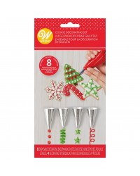 Cookie decorating piping bags and icing nozzle tip set by Wilton