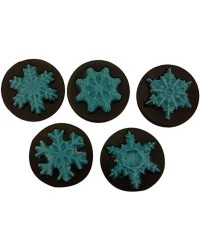 Snowflakes chocolate mould insert cookie such as oreo