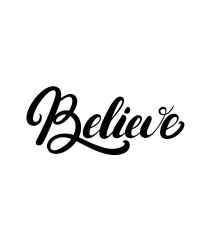 Believe stencil by Silho