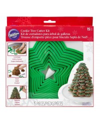 3d star cookie Christmas tree set by Wilton
