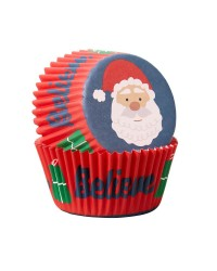 Santa Claus Believe Standard cupcake papers 75 pack
