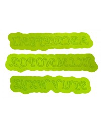 UPPERCASE CALLIGRAPHY FLEXABET alphabet letters ONLAY by MARVELOUS MOLDS