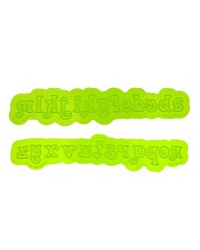 FLEXABET Swirly Lowercase Alphabet Letters ONLAY by MARVELOUS MOLDS