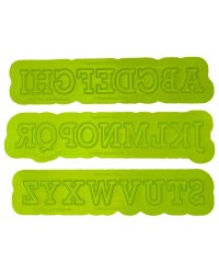 FLEXABET Typewriter Uppercase Alphabet Letters ONLAY by MARVELOUS MOLDS