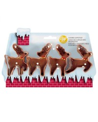 Set 4 reindeer cutters by Wilton