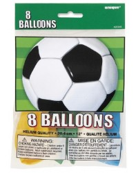 Soccer Ball party balloons pack of 8