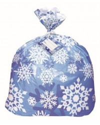 Snowflakes Jumbo cello bag great for cookie basket wrapping