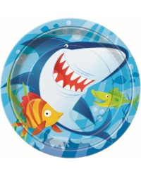 Fin Friends Under the sea party plates Shark and fish