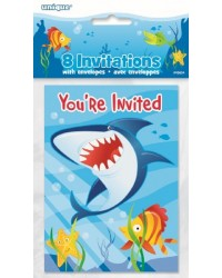 Fin Friends Under the sea party invites Shark and fish