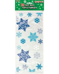 Snowflake cello treat bags pack of 20