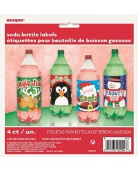 Christmas Soft drink soda bottle labels