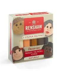 Renshaw Fondant Icing Multi Pack Natural Colours for hair flesh and skin tones