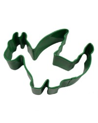 Dragon green metal cookie cutter