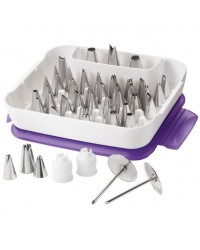 image: 56 piece Master icing nozzle tip set Bags couplers & case