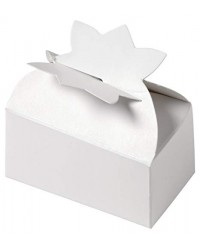 Small white boxes for truffles holds 2