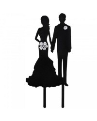 Cake topper wedding cake silhouette Bride and Groom
