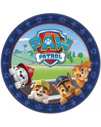Paw Patrol round party plates (8)