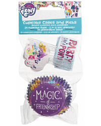 My Little Pony cupcake papers and picks set