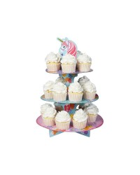 Magical unicorn 3 tier cupcake stand