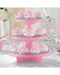 3 TIER CUPCAKE TREAT STAND Pink