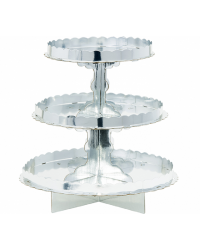 3 TIER CUPCAKE TREAT STAND Silver