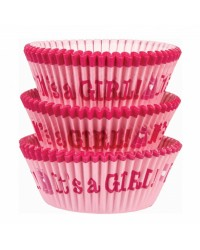Its a girl baby shower cupcake papers