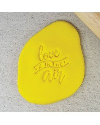 Embosser stamp press LOVE is in the air