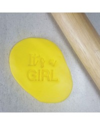 Embosser stamp press Its a girl