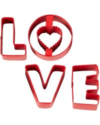 LOVE letter cookie cutter set 4 by Wilton