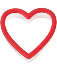 Red heart grippy cookie cutter by Wilton