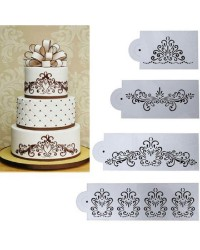 Royal scrolls stencil set of 4
