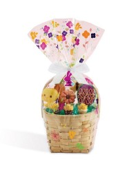 Easter cookie basket large wrap bag