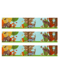 Edible image cake strips Forest Woodland animals