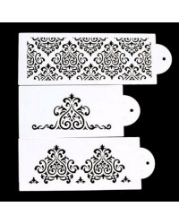 Damask 3 piece stencil set