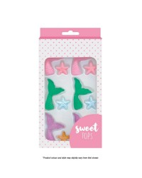 Sweet Tops Mermaid Tail and Starfish sugar icing decorations