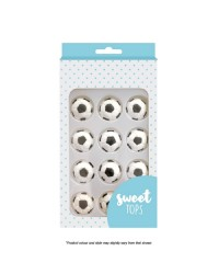 Sweet Tops soccer balls icing decorations