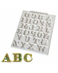 Katy Sue Manuscript Alphabet silicone mould