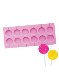 Hard candy or isomalt silicone lollipop mould