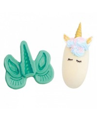 Unicorn face mould suitable for cupcakes and popsicles