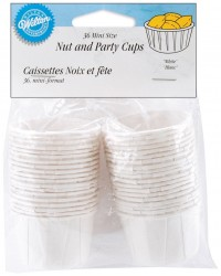 White nut cups standard by Wilton