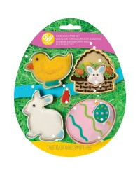 Easter set 7 cookie cutters with mini accent cutters