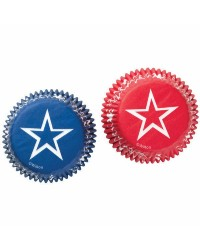Red and blue stars Standard cupcake papers