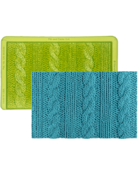 Rib and Cable Knit Simpress by Marvelous molds