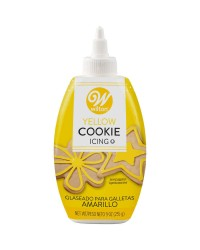 Cookie icing that sets hard 9oz 255 gram bottle Yellow